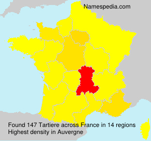 Surname Tartiere in France
