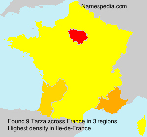 Familiennamen Tarza - France
