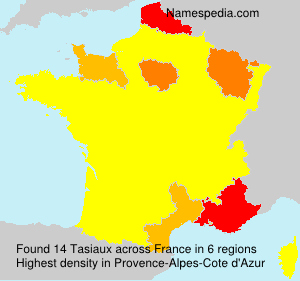 Surname Tasiaux in France