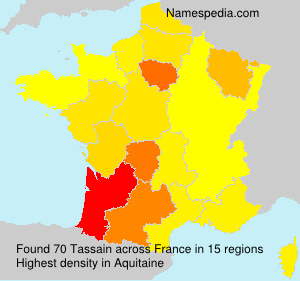 Surname Tassain in France