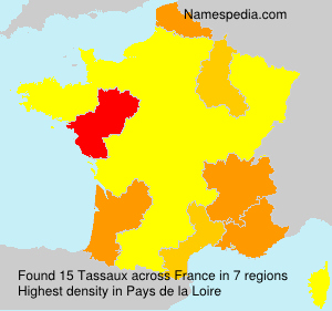 Surname Tassaux in France