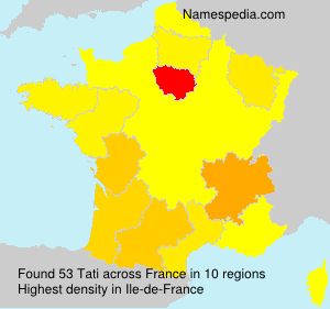 Surname Tati in France