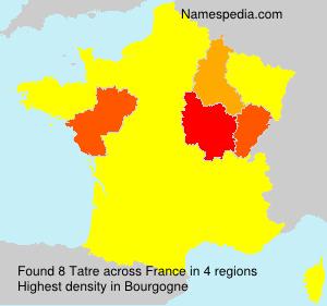 Surname Tatre in France