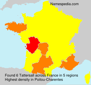 Surname Tattersall in France