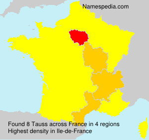 Surname Tauss in France