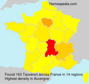 Surname Tauveron in France