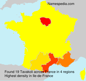 Surname Tavakoli in France