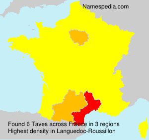 Surname Taves in France