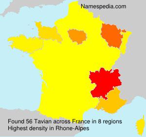 Surname Tavian in France
