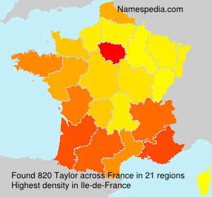 Surname Taylor in France