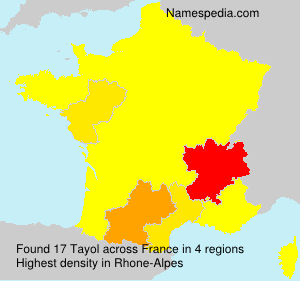 Surname Tayol in France