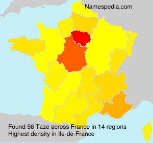 Surname Taze in France