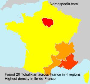 Familiennamen Tchalikian - France