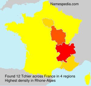 Surname Tchier in France