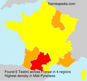 Familiennamen Teatini - France