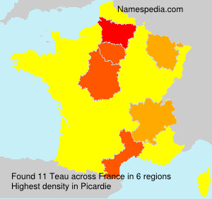 Familiennamen Teau - France