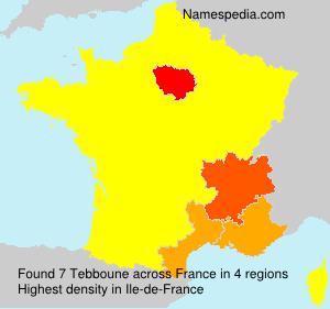 Surname Tebboune in France