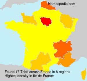 Surname Tebri in France