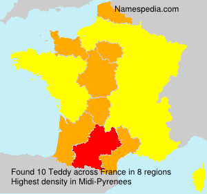 Surname Teddy in France
