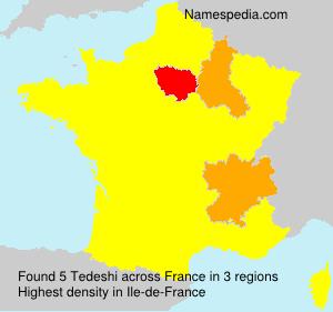 Surname Tedeshi in France