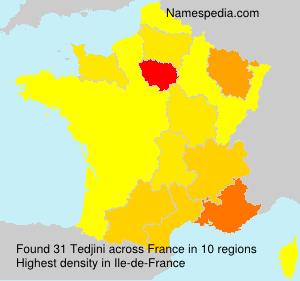 Surname Tedjini in France