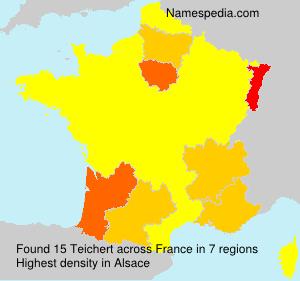 Surname Teichert in France