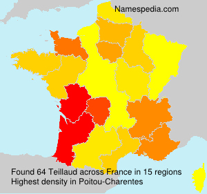Surname Teillaud in France