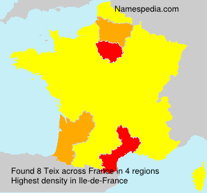 Surname Teix in France