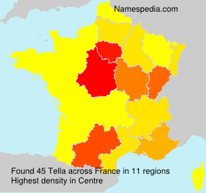 Surname Tella in France