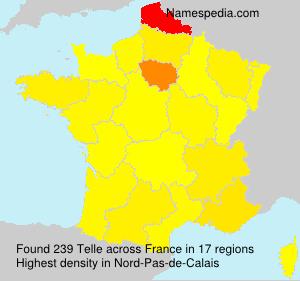 Surname Telle in France
