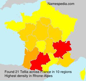 Surname Tellia in France