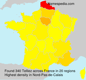 Surname Telliez in France
