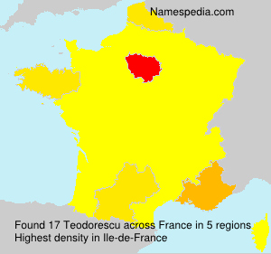 Familiennamen Teodorescu - France