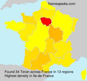 Surname Teran in France