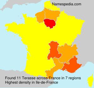 Familiennamen Terasse - France