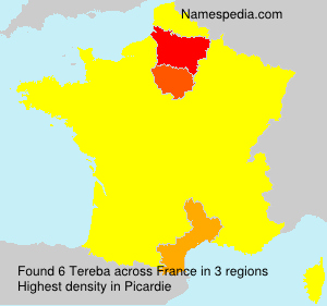Surname Tereba in France