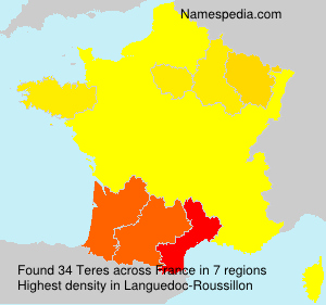 Surname Teres in France