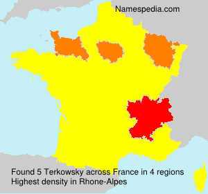Surname Terkowsky in France