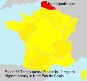 Familiennamen Ternoy - France
