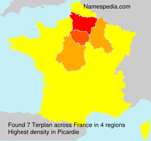 Surname Terplan in France