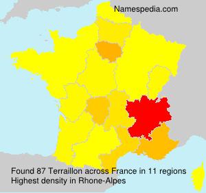 Familiennamen Terraillon - France