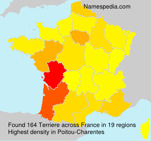 Surname Terriere in France