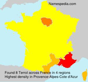 Surname Terrol in France