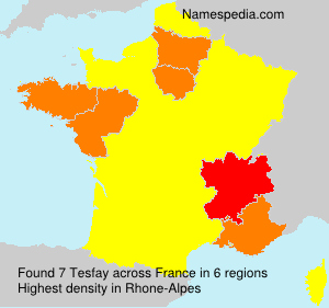 Surname Tesfay in France