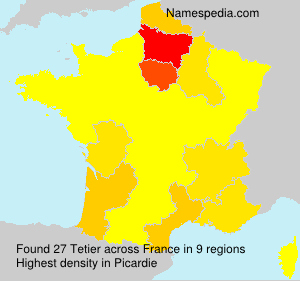 Surname Tetier in France