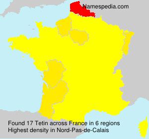 Familiennamen Tetin - France