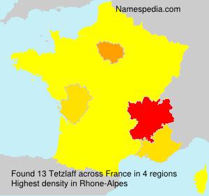 Surname Tetzlaff in France