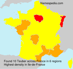 Surname Teuber in France