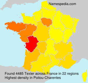 Surname Texier in France