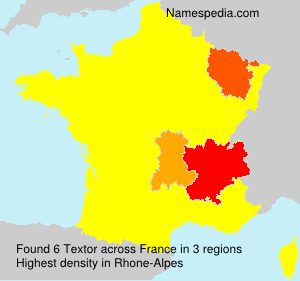 Surname Textor in France